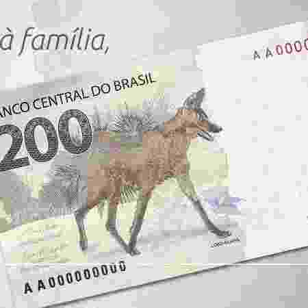 02.setembro.2020 BC divulga cédula de R$ 200 - Banco Central/Divulgação