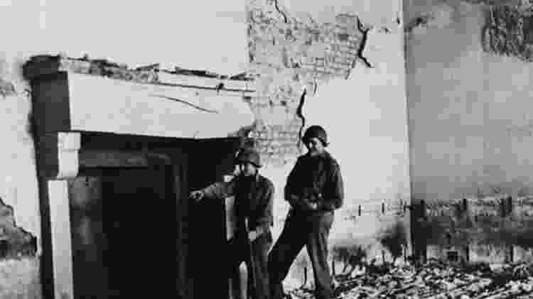 Berghof ficou em ruínas após os bombardeios no fim da Segunda Guerra - Getty Images - Getty Images