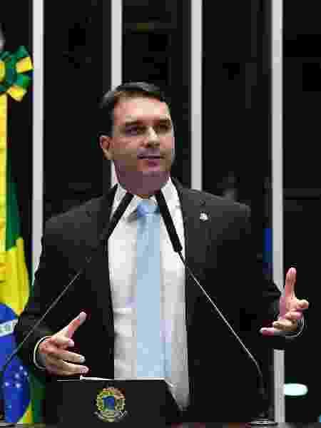 O senador Flávio Bolsonaro (Republicanos-RJ) não compareceu em acareação com o empresário e suplente Paulo Marinho - Roque de Sá/Agência Senado