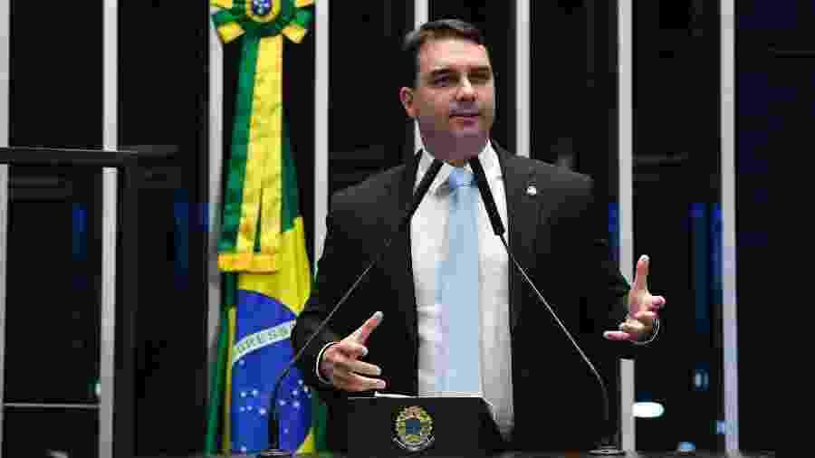 O senador Flávio Bolsonaro (Republicanos-RJ), em foto de arquivo (15/10/2019) - Roque de Sá/Agência Senado