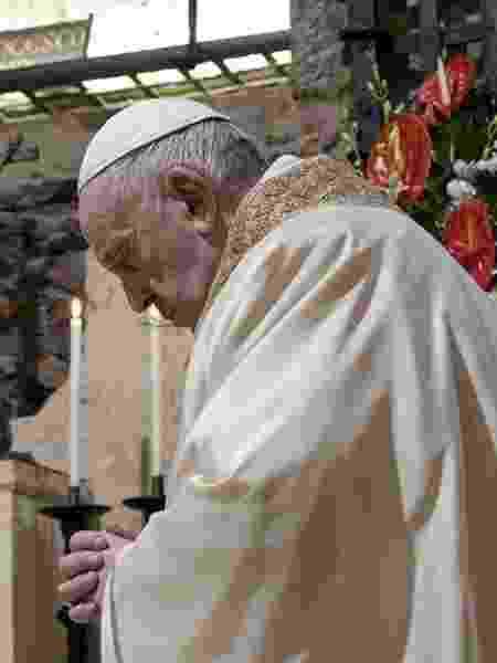 Papa Francisco em missa no Vaticano; Pontífice diz que pagar impostos é dever do cidadão - CNS/Vatican Media