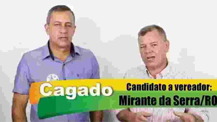 Cagado, candidato a vereador em Mirante da Serra - Reprodução/YouTube