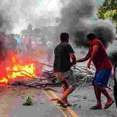 10.nov.2020 - Moradores do Amapá fizeram protesto após apagão  - Divulgação/Comunidade Casa Grande - Divulgação/Comunidade Casa Grande