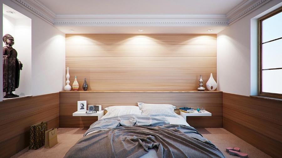 Imagem meramente ilustrativa de uma cama de casal - Pixabay