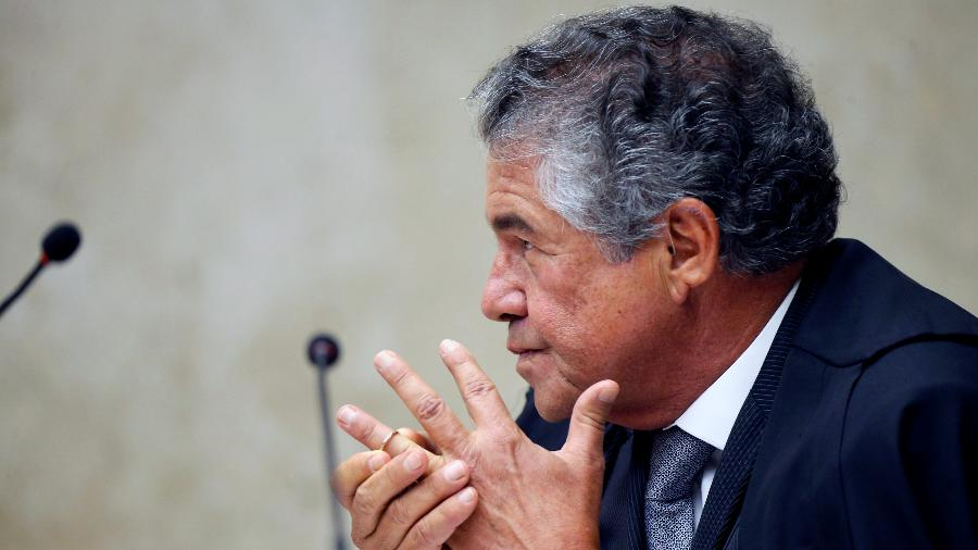 Ministro Marco Aurélio Mello durante sessão do Supremo Tribunal Federal (STF) em Brasília - Adriano Machado/Reuters