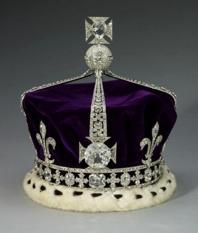 Coroa com o diamante indiano Koh-i-noor