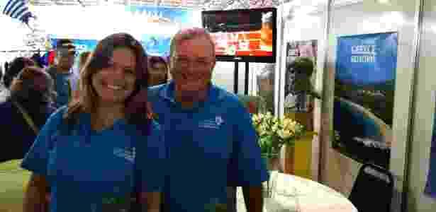 O  embaixador da Grécia no Brasil, Kyriakos Amiridis, e sua mulher, Françoise - Reprodução/Facebook