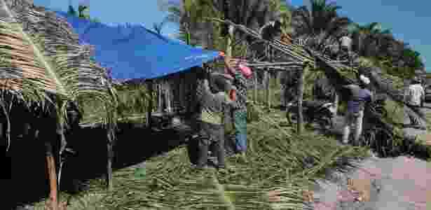 Camponeses remontaram acampamento na fazenda do Pará onde ocorreu o massacre - Mario Campagnani/Justiça Global