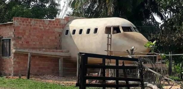 Músico e cineasta Geraldo Araújo realizou sonho e construiu uma casa-avião em RO - Divulgação/Humor Rondoniense