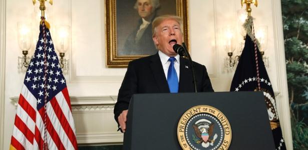 """13.out.2017 - Trump chamou de """"animal degenerado"""" o suspeito do atentado em Nova York, o imigrante uzbeque Sayfullo Saipov"""