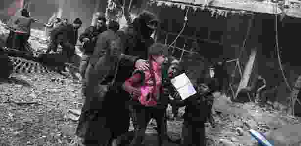 Organizações de ajuda humanitária alertam sobre precariedade de situação em Ghouta - ABDULMONAM EASSA/AFP - ABDULMONAM EASSA/AFP