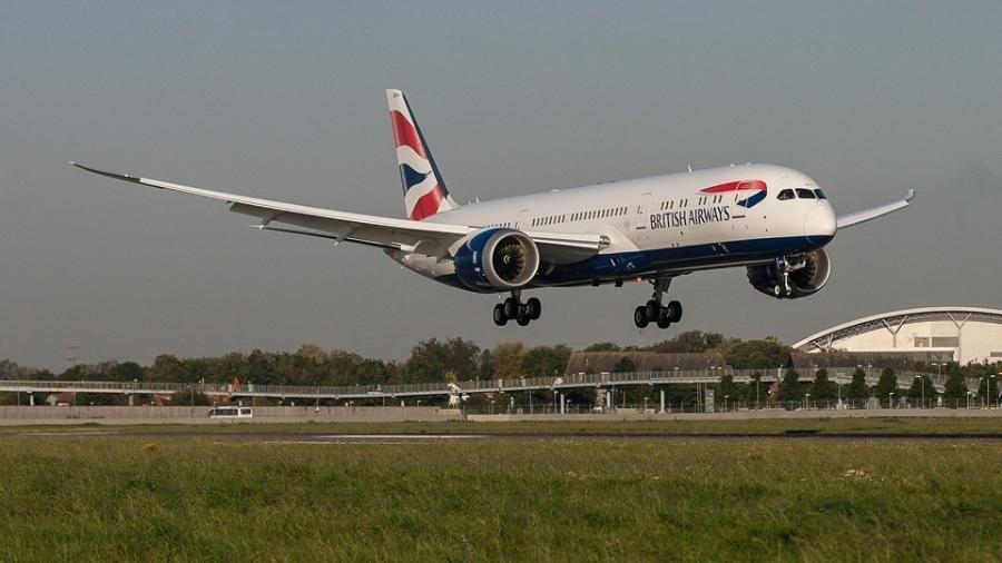 Voo da British Airways, do Reino Unido - Divulgação