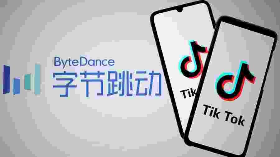 Logos do TikTok e de sua empresa dona, a chinesa ByteDance - Dado Ruvic/Reuters