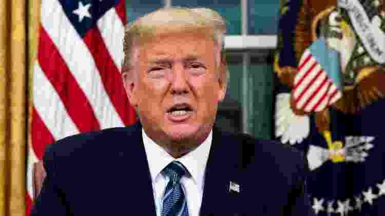 Presidente dos EUA, Donald Trump, fala na Casa Branca - POOL New - POOL New