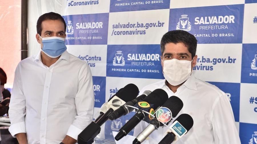 ACM Neto, prefeito de Salvador, inaugurou hoje uma Unidade de Acolhimento Institucional (UAI) na capital baiana - Max Haack/Secom