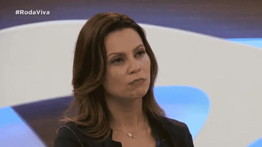 Secretária de Desenvolvimento Econômico, Ciência e Tecnologia do Estado de SP, Patrícia Ellen, em entrevista ao programa Roda Viva, da TV Cultura - Reprodução/TV Cultura