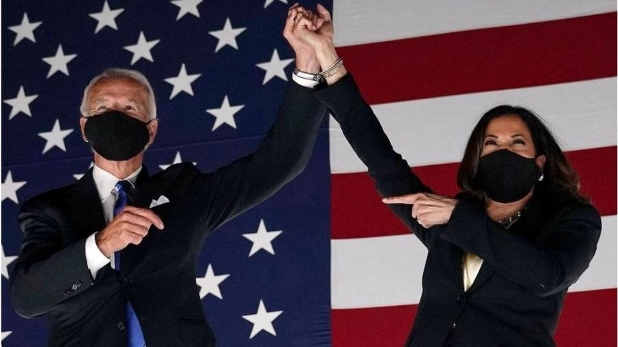 Joe Biden e Kamala Harris tomam posse em 20 de janeiro - Getty Images