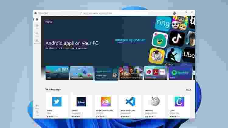 Loja de apps do Windows 11 terá aplicativos do Android - Divulgação - Divulgação