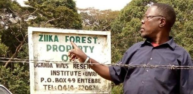 A maior parte da floresta Zika, que beira uma estrada entre a capital Kampala e o Aeroporto de Entebbe