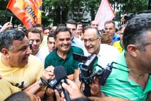 'Minha candidatura será decidida em Minas Gerais', diz Aécio (Foto: Bruno Poletti/Folhapres)