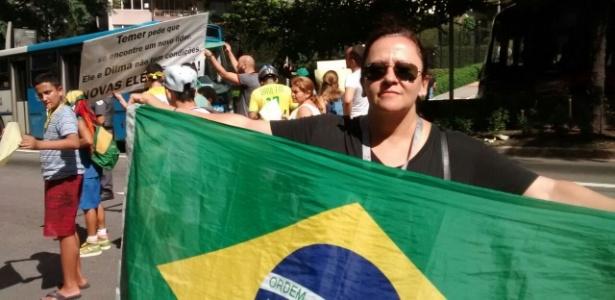 'Não dá para ficar tomando jato de água', diz manifestante - Marcelo Freire/UOL