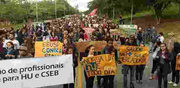 Funcionários e médicos do Hospital Universitário entraram em greve no final de maio - Hélio Torchi/Sigma Press/Estadão Conteúdo