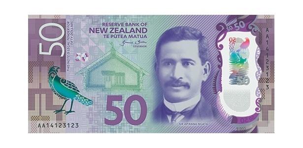 Oscar da Moeda: nota de 50 dólares neozelandeses