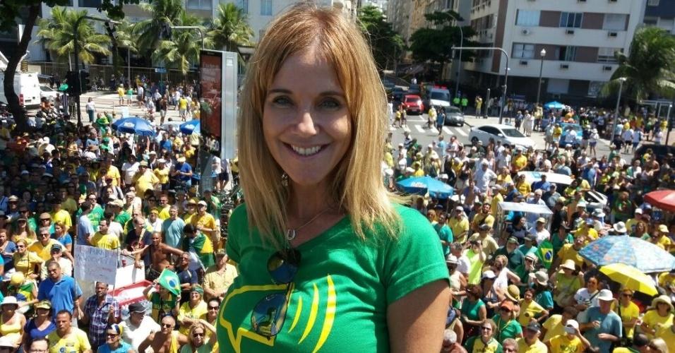 Adriana Balthazar, uma das líderes do Vem Pra Rua, no Rio de Janeiro