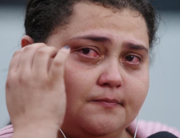 Fernanda Nogueira Dutra, uma das vítimas dos assaltantes que atacaram na fila do Iede