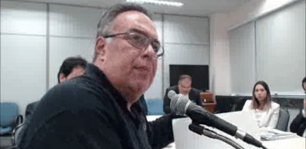 O ex-deputado federal André Vargas presta depoimento ao juiz Sergio Moro em processo da Operação Lava Jato
