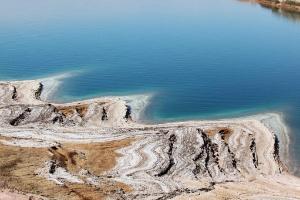 O sonho de salvar o mar Morto com água do mar Vermelho mais perto do que nunca (Foto: Ahmad Abdo/AFP)
