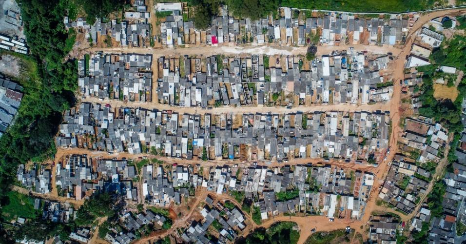 3.mai.2018 - Imagem aérea da ocupação Pinheirinho 2, no Iguatemi, extremo leste de São Paulo