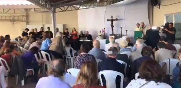 Mais de dois meses após desabamento parcial, Igreja Evangélica Luterana de São Paulo realizou culto no domingo (8) - Facebook/Igreja Martin Luther