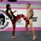 Cyborg chuta lutador do UFC na região genital para testar proteção
