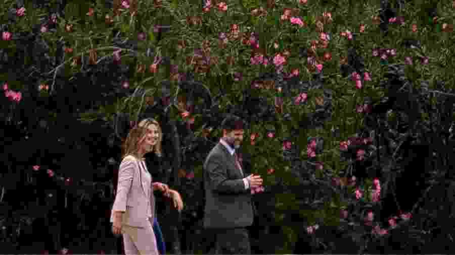 21.nov.2018 - A primeira-dama Marcela Temer e Michelle Bolsonaro durante visita ao Palácio da Alvorada, em novembro - Pedro Ladeira/Folhapress