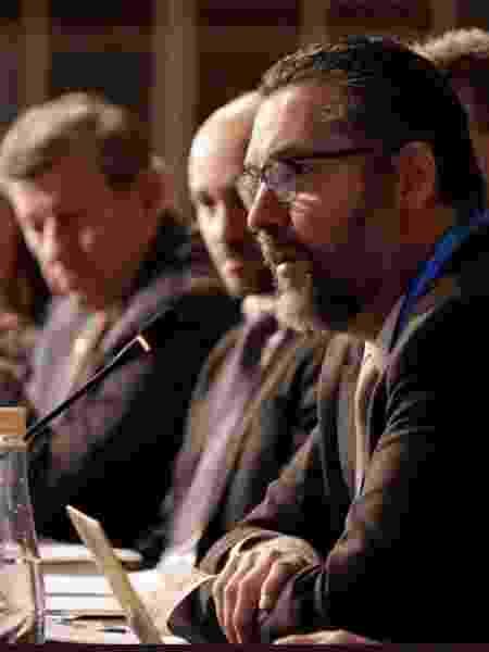 O chanceler brasileiro, Ernesto Araújo, durante a cúpula do Mercosul, em Santa Fé, na Argentina - Reprodução/Twitter