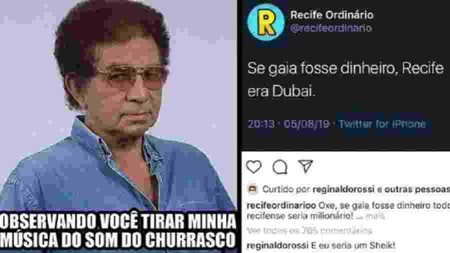 Perfis de Reginaldo Rossi nas redes sociais usam a primeira pessoa e o humor como estatégia para se aproximar de fãs - Reprodução/Instagram