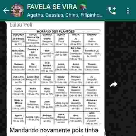 """Jovens da periferia usam o grupo """"Favela Se Vira"""" para estudar durante a pandemia - Reprodução"""