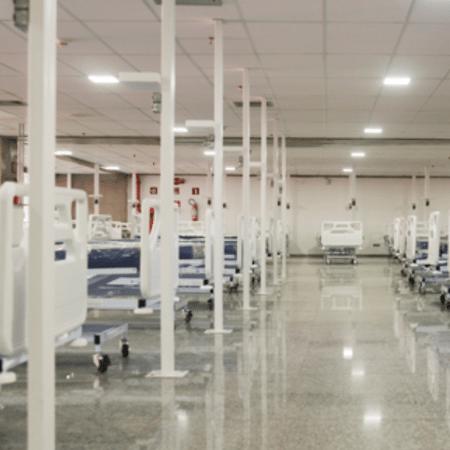 Hospital de Campanha do Estádio Mané Garrincha recebe primeiros pacientes - Geovana Albuquerque/Agência Saúde