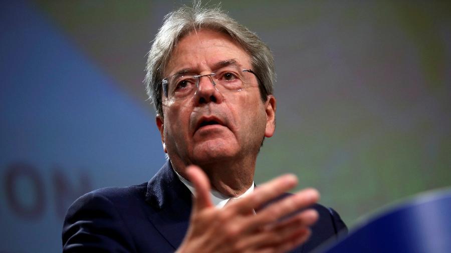 15.jul.2020 - O comissário de Economia da União Europeia, Paolo Gentiloni, disse que os pagamentos do fundo de recuperação do coronavírus aprovado por líderes do bloco começarão na segunda metade de 2021 -  Francisco Seco/Pool via Reuters