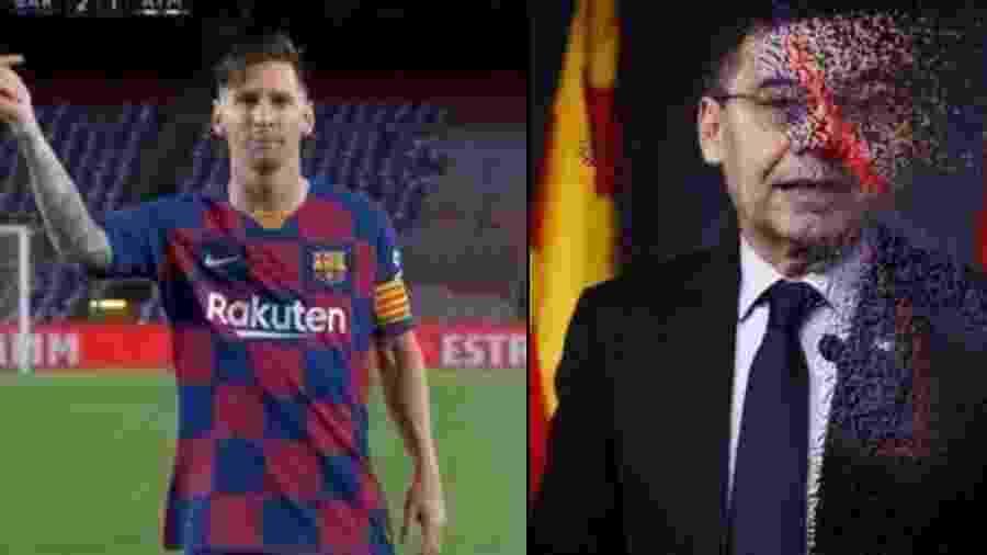 Meme brinca com Messi desaparecendo com Pep Bartomeu  - Reprodução/Twitter