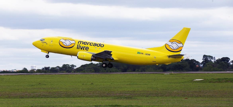 Mercado Livre anuncia frota própria de aviões para agilizar entregas feitas em seu site - Divulgação/Mercado Livre