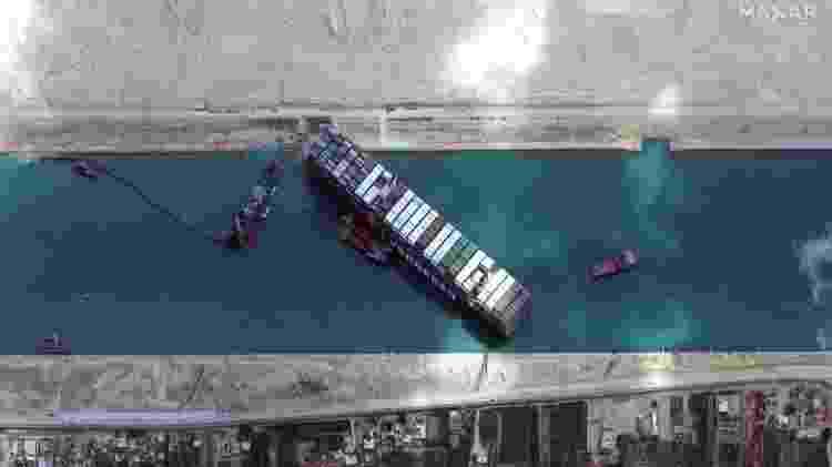 Imagem de satélite - Satellite image ©2021 Maxar Technologies/AFP - Satellite image ©2021 Maxar Technologies/AFP