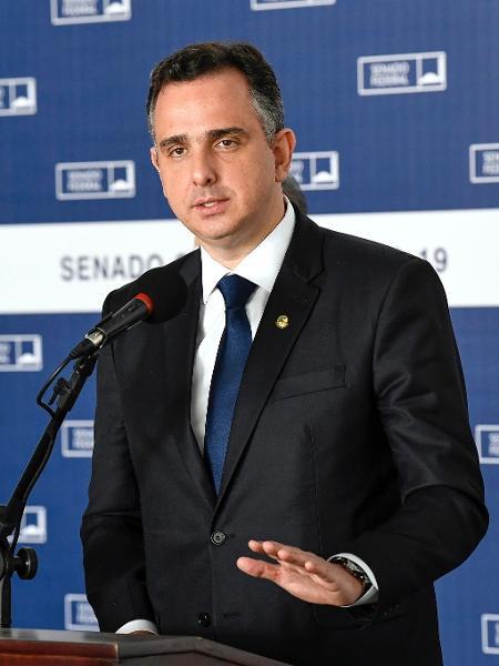 O presidente do Senado, Rodrigo Pacheco (DEM-MG), tem se destacado nas articulações políticas - Jefferson Rudy/Agência Senado