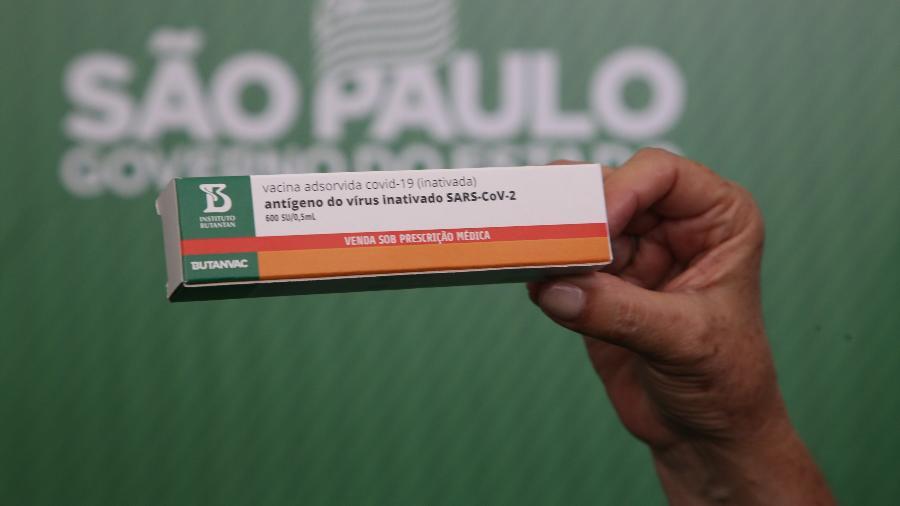A caixa da vacina Butanvac, desenvolvida pelo Instituto Butantan - Divulgação/Governo de São Paulo
