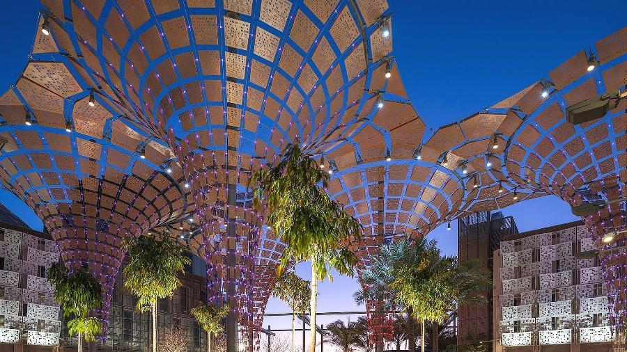 Detalhe de projeto para a Expo 2020 Dubai - Reprodução/ Facebook/ Expo2020Dubai