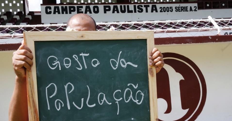 """""""O melhor de São Paulo são as pessoas. O carinho de todos que moram aqui""""."""