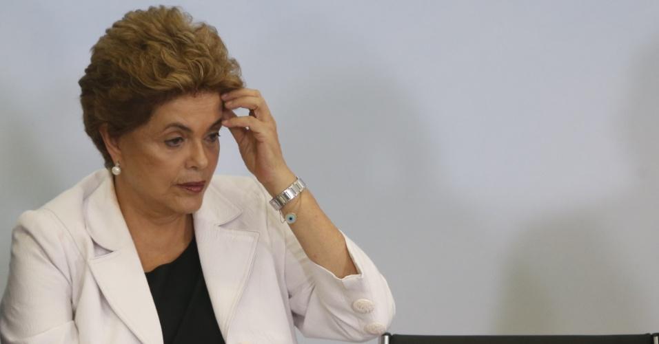 30.mar.2016 - A presidente Dilma Rousseff participa do evento de lançamento do programa Minha Casa, Minha Vida 3, no Palácio do Planalto, em Brasília