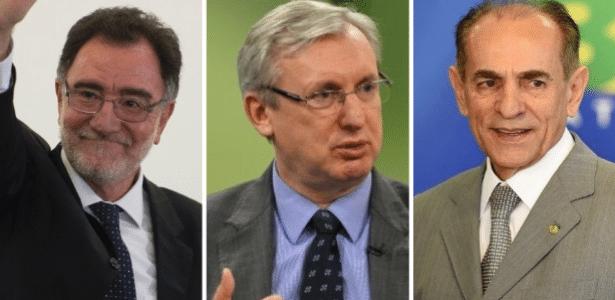 Da esq. para a dir: Patrus, Pansera e Castro devem deixar ministérios para ajudar governo na votação do impeachment