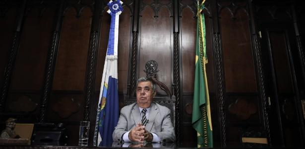 O deputado estadual Jorge Picciani (PMDB-RJ), reeleito presidente da Alerj